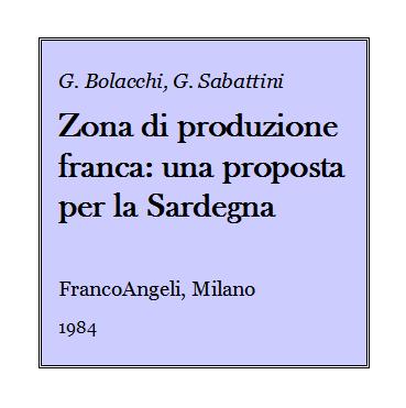 Giulio Bolacchi - Zona di produzione franca