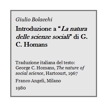 Giulio Bolacchi - Introduzione a La natura delle scienze sociali